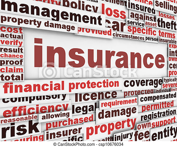 meddelelse, begreb, forsikring - csp10676034