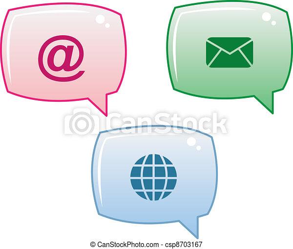 media, bellen, toespraak - csp8703167