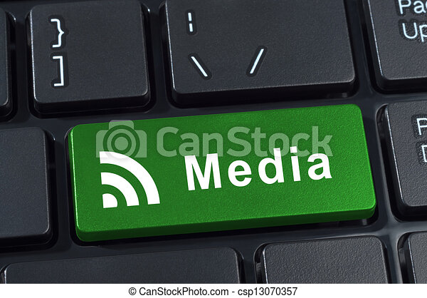 Media button keyboard. - csp13070357