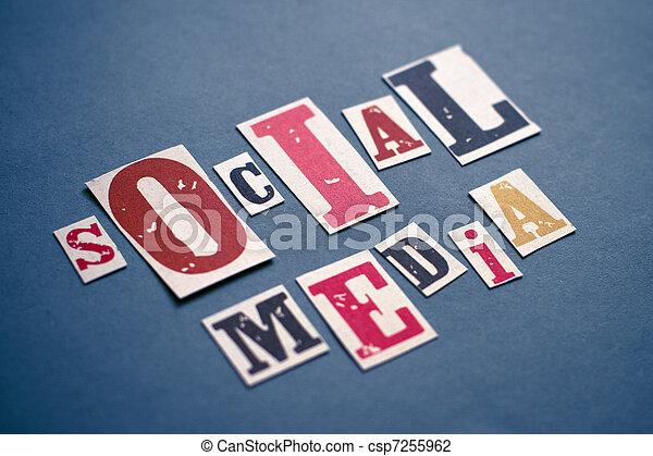 media, concept, sociaal - csp7255962