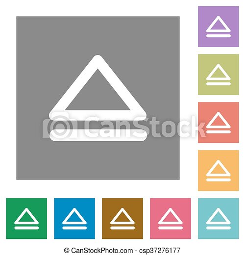 Media eject square flat icons - csp37276177