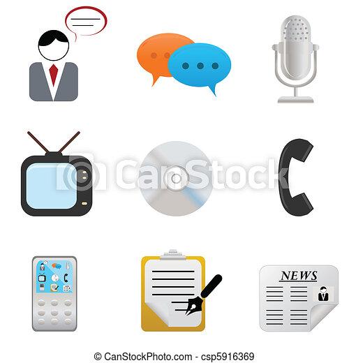 Media icons and symbols - csp5916369