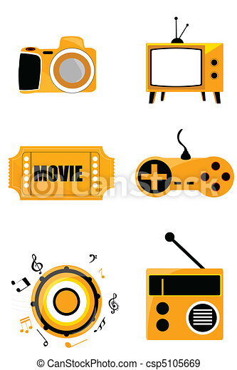 media icons - csp5105669