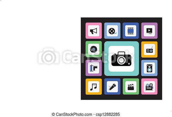 Media icons - csp12882285