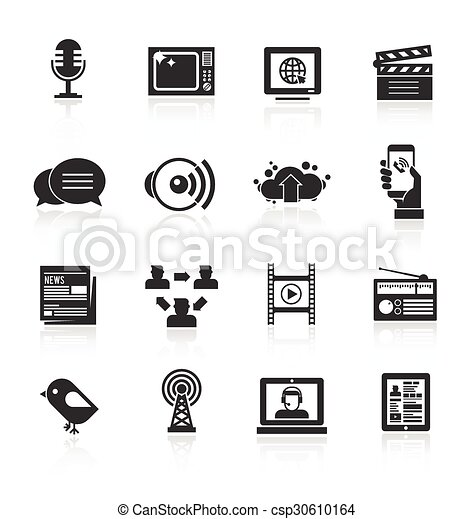 Media Icons Set - csp30610164