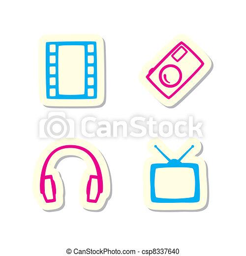 Media Icons - csp8337640