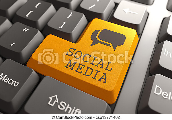 media, klawiatura, button., towarzyski - csp13771462