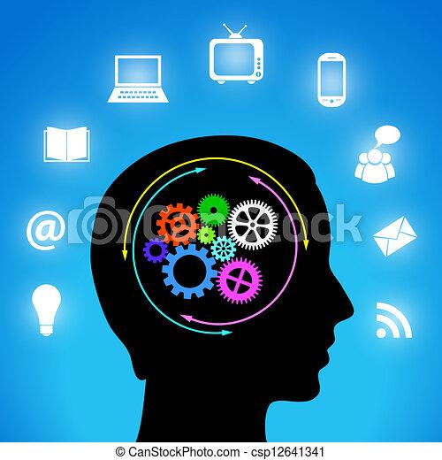 media, mente, mio - csp12641341