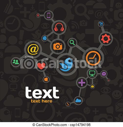 media, netwerk, sociaal - csp14794198