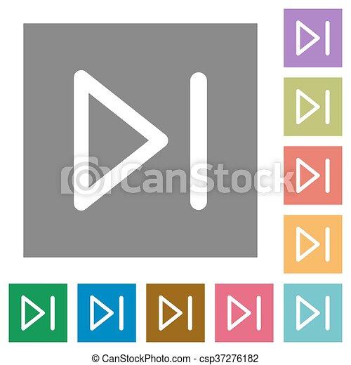 Media next square flat icons - csp37276182