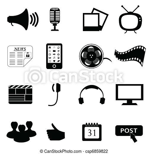 Media or multimedia icons - csp6859822