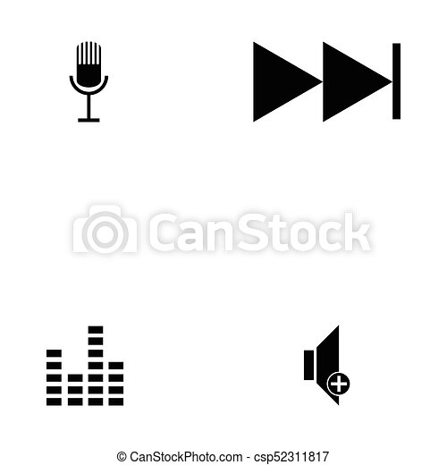 media player icon set - csp52311817