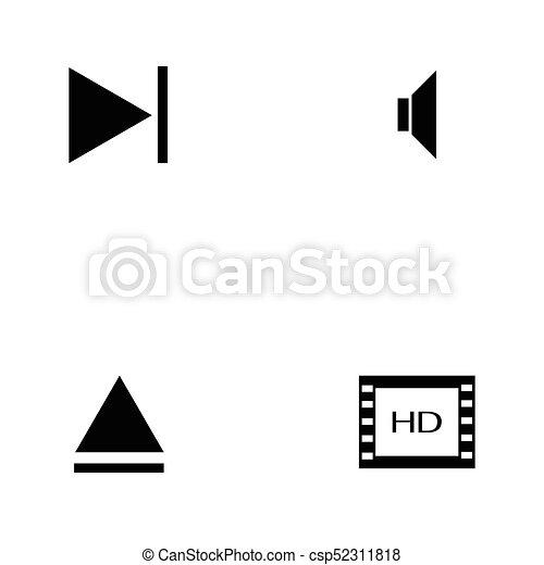 media player icon set - csp52311818