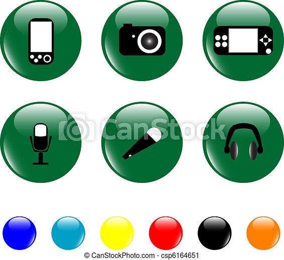 Media related elements icon set - csp6164651