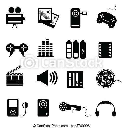Media related icon set - csp5769998