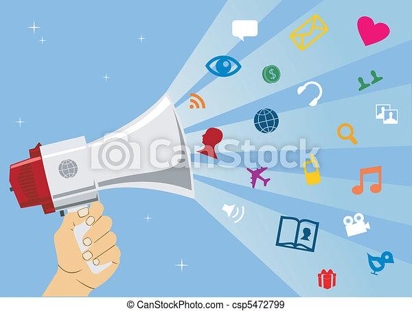 media, sociaal, communicatie - csp5472799