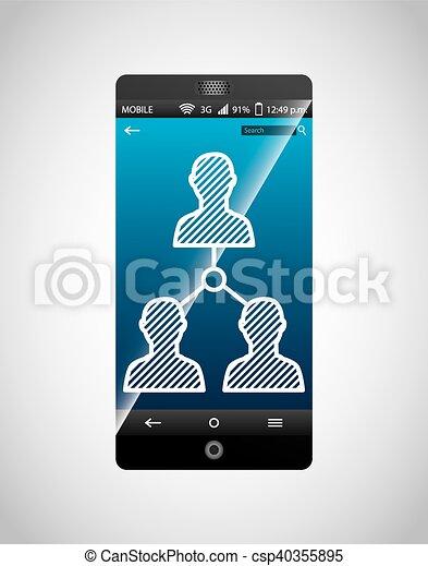 media, sociaal, netwerk, pictogram - csp40355895