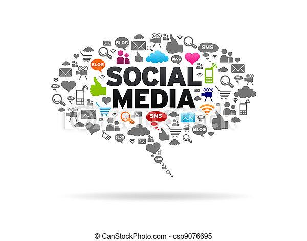 media, sociale - csp9076695