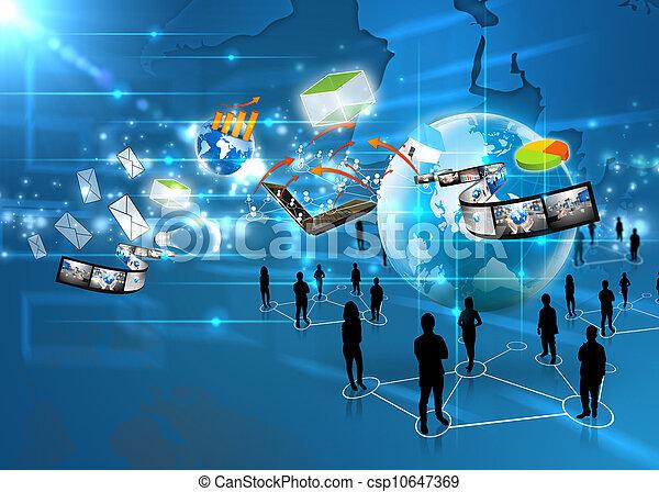 media, squadra, affari, sociale - csp10647369