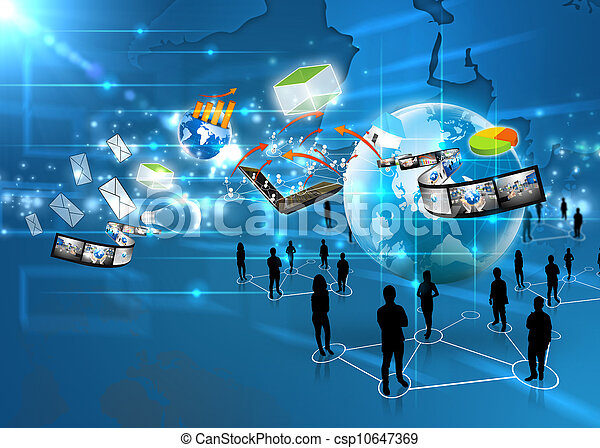 media, squadra, sociale, affari - csp10647369