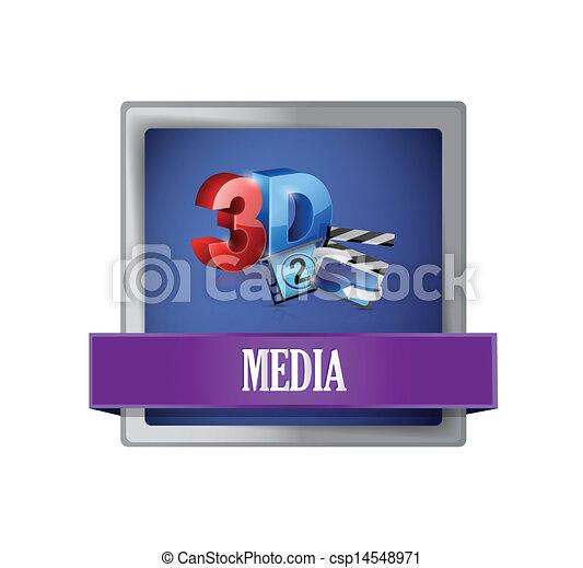media square blue button illustration - csp14548971