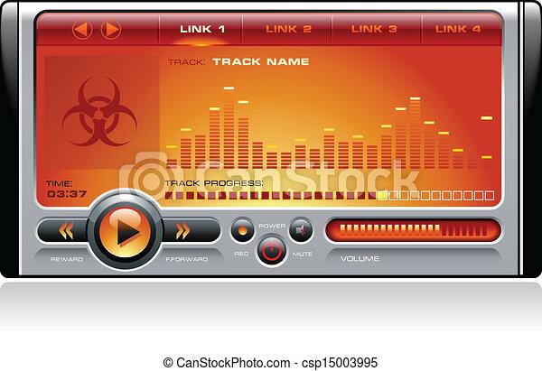 media, stereo, musica, giocatore mp3 - csp15003995