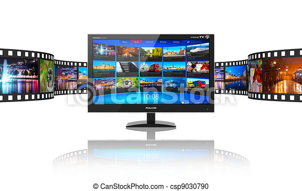 Media telecommunications and streaming video concept - csp9030790
