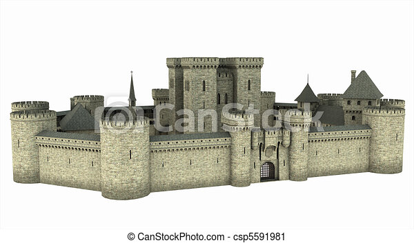 Mediaeval Castle - csp5591981