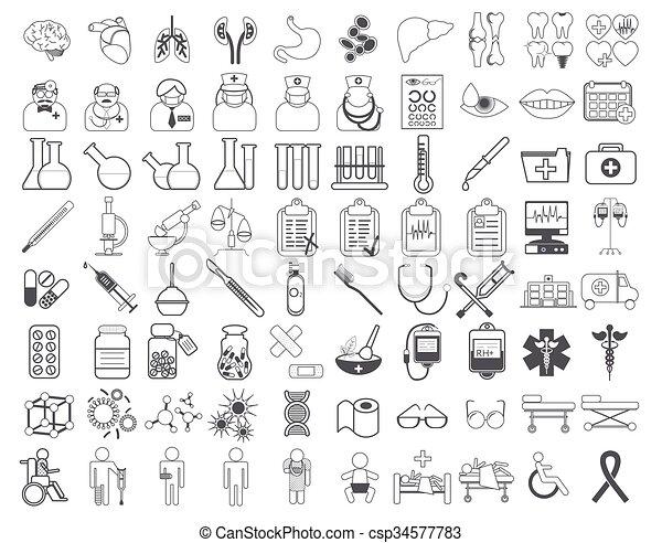 Medic icon vector illustration - csp34577783