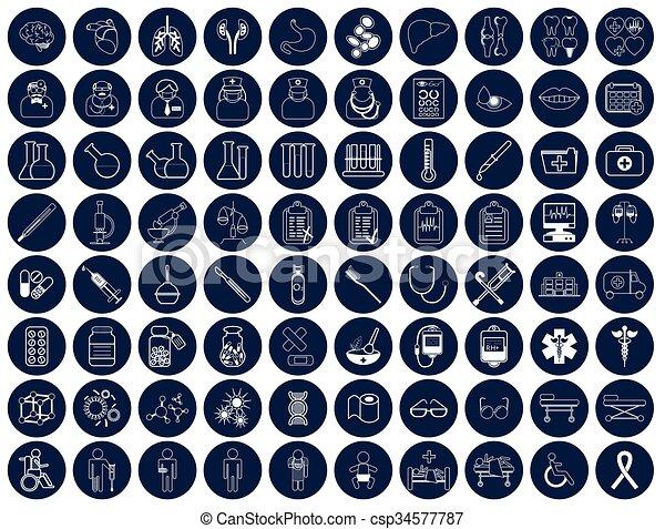 Medic icon vector illustration - csp34577787