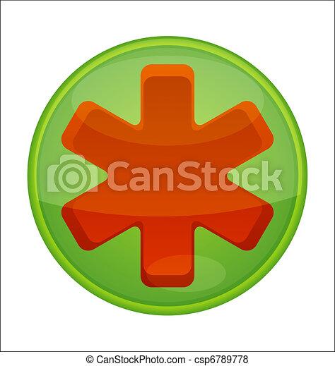 medic symbol emergency red color - csp6789778