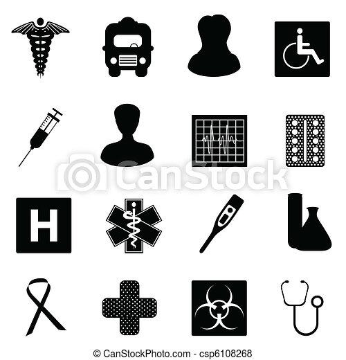 Medical and healthcare symbols - csp6108268