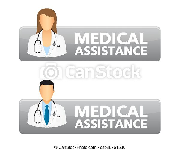 Medical assistance request buttons - csp26761530