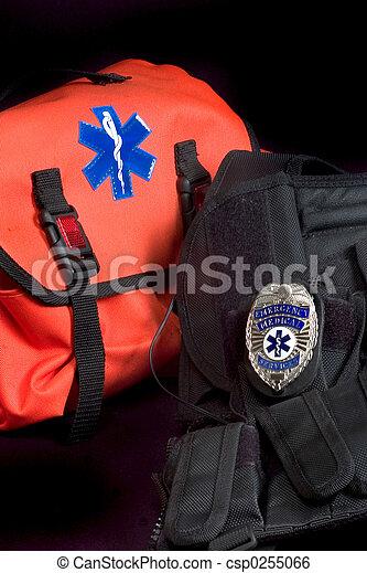 Medical bag and vest - csp0255066
