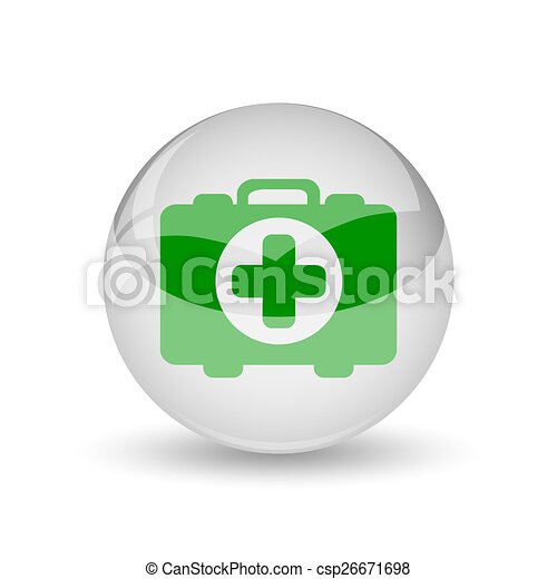 Medical bag icon - csp26671698