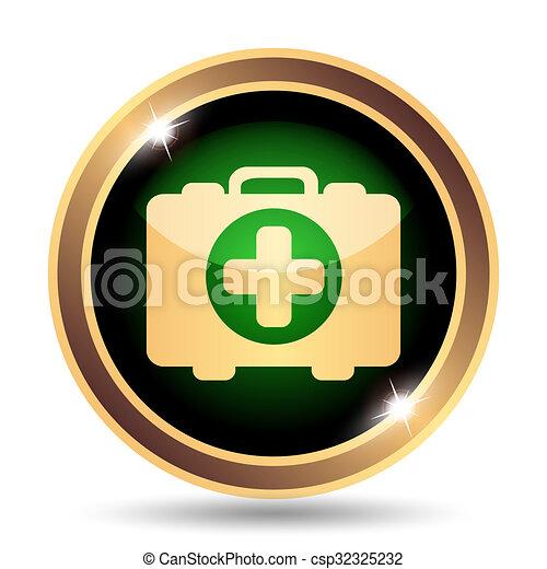 Medical bag icon - csp32325232