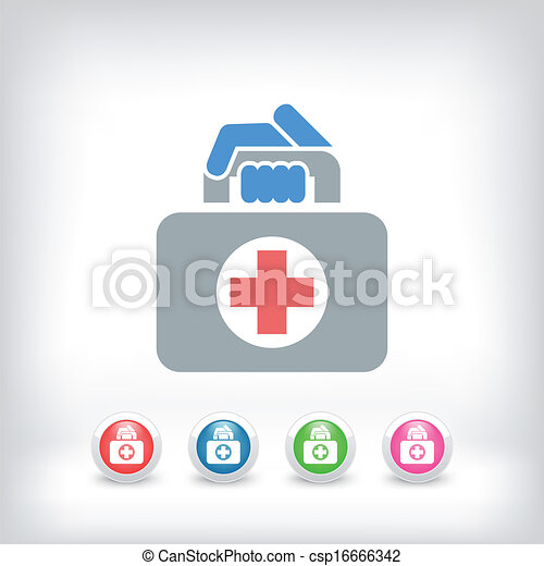 Medical bag icon - csp16666342