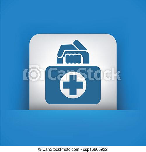 Medical bag icon - csp16665922