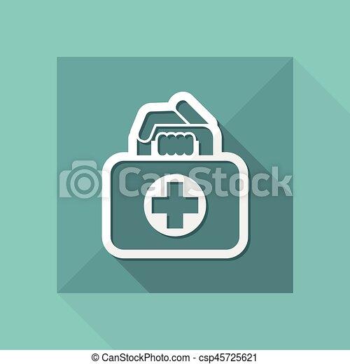 Medical bag icon - csp45725621