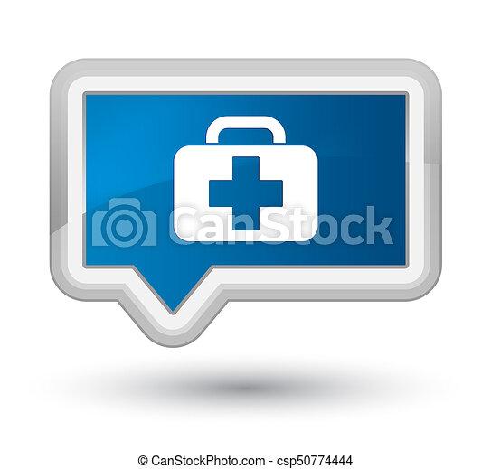 Medical bag icon prime blue banner button - csp50774444