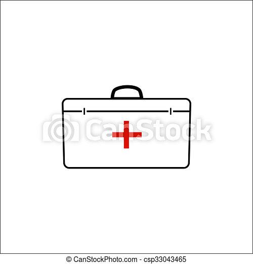 medical bag icon - csp33043465