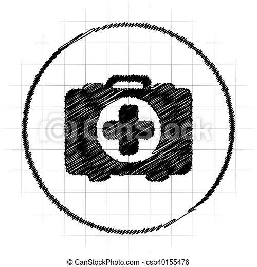 Medical bag icon - csp40155476