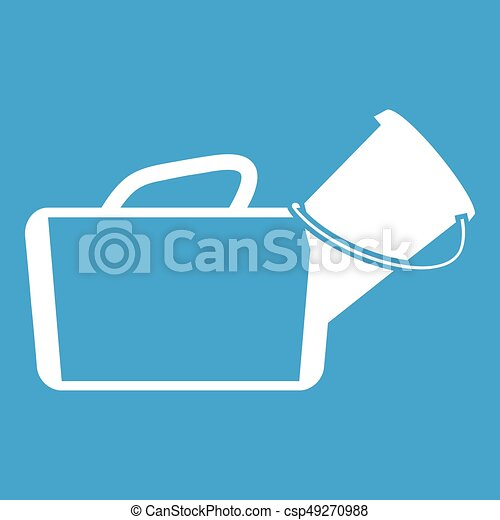Medical bag icon white - csp49270988