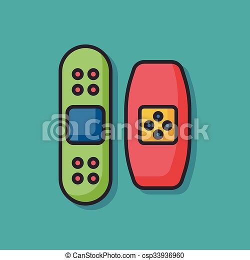 medical bandage vector icon - csp33936960