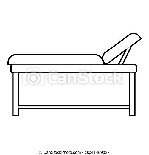 medical bed icon outline style medical bed icon outline clip rh canstockphoto com