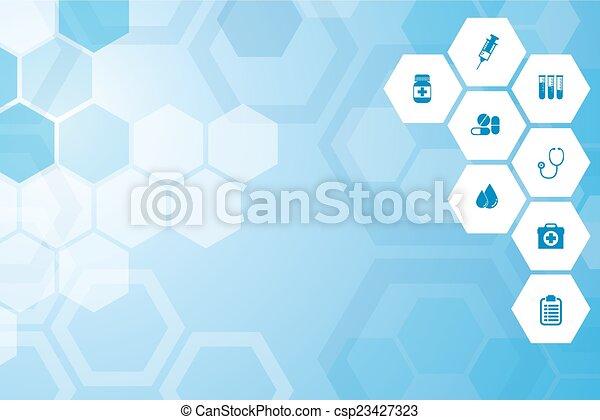 Medical  blue background - csp23427323