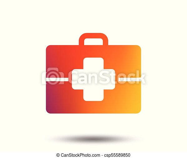 Medical Case Sign Icon Doctor Symbol Blurred Gradient Clipart