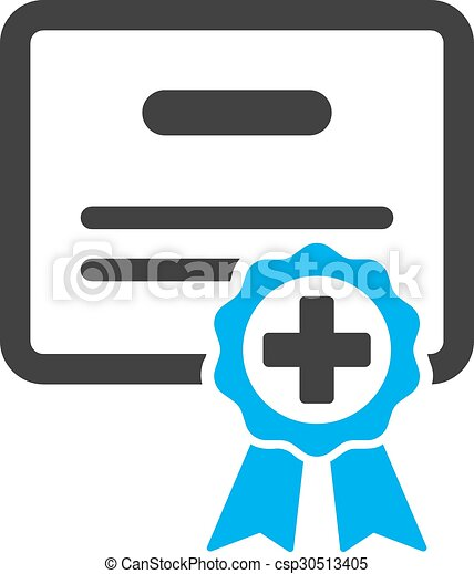 medical certificate icon medical certificate vector icon vector rh canstockphoto com certificate vector border certificate vector free