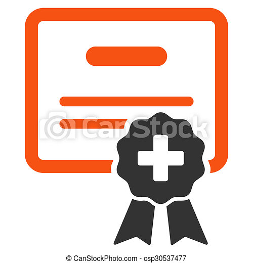 Medical certification icon. Medical certification glyph icon. style ...