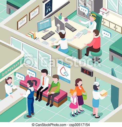 medical clinic interior - csp30517154